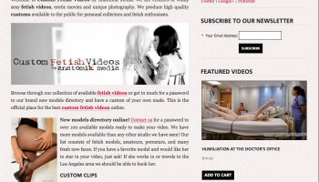 New site launched – CustomFetishVideos.com