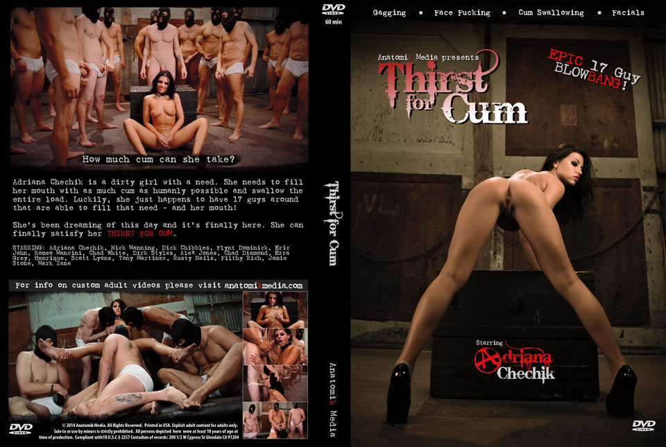Thirst for Cum DVD Box Cover - Adriana Chechik blowbang 17 guys