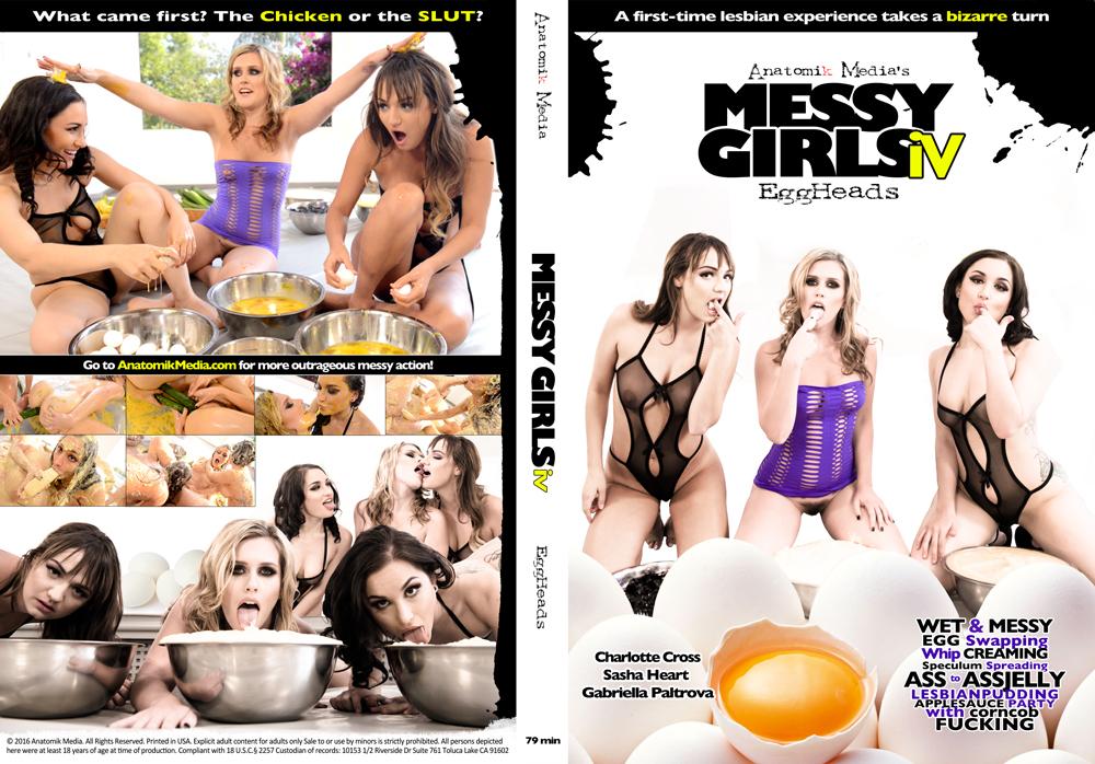 Messy Girls 4: Eggheads - Wet and Messy Movie featuring Sasha Heart, Gabriella Paltrova, Charlotte Cross