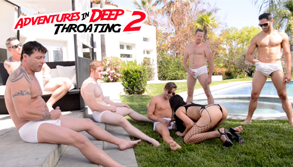 Kimberly Gates Blowbang - Adventures in Deep Throating