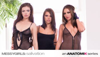 Adriana Chechik, Zoe Wood, Hope Howell - Messy Girls Salivation