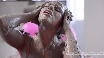 Adriana Chechik Squirting Mudbath Wet and Messy